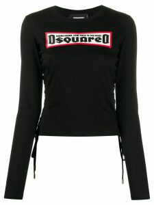 Dsquared2 logo print long-sleeve T-shirt - Black