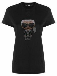 Karl Lagerfeld Ikonik rhinestone Karl T-Shirt - Black