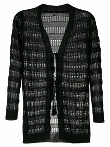 Track & Field elongated knit cardigan - Black