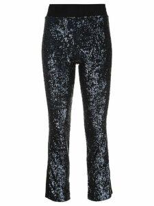 Kiki de Montparnasse cropped sequinned trousers - Blue
