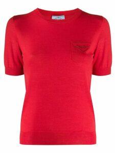 Prada logo print T-shirt - Red