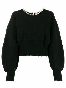 Alexander Wang embellished long-sleeve jumper - Black
