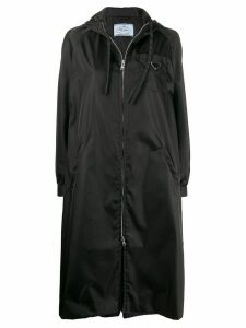 Prada PRADA - Woman - NYLON LONG HOODIE - Black