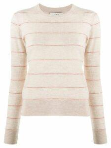 Vince cashmere stripe jumper - NEUTRALS