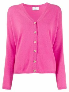 Allude cashmere V-neck cardigan - PINK