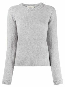 Odeeh long sleeve ribbed knit pullover - Grey