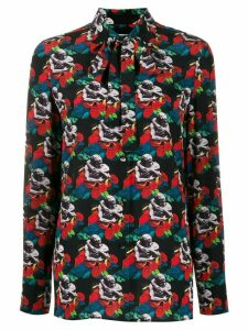 Valentino graphic print blouse - Black
