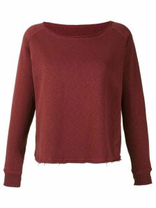 Track & Field boat neck ribbed jumper - Red