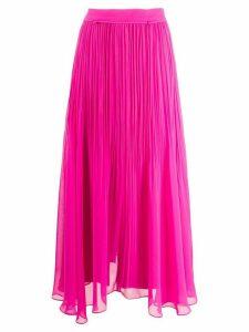 Irina Schrotter pleated-waist georgette midi skirt - PINK