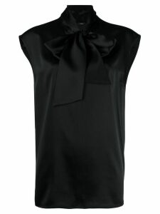 Joseph Nancy neck tie blouse - Black