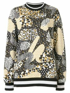 Dolce & Gabbana contrast print sweatshirt - Black