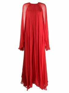 Irina Schrotter crinkled cape-effect gown - Red
