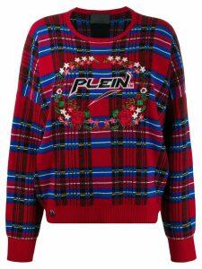 Philipp Plein tartan pullover - Red