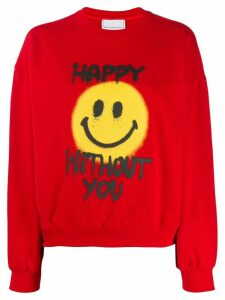 Philosophy Di Lorenzo Serafini Happy Without You sweatshirt - Red