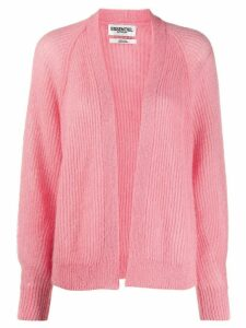 Essentiel Antwerp long sleeve cable knit cardigan - PINK