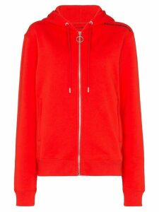 Paco Rabanne logo-print cotton hoodie - Red