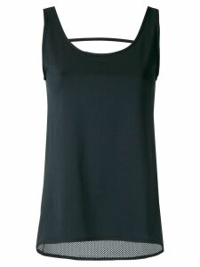 Track & Field cut out detail tank top - Black
