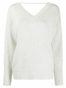 Brunello Cucinelli ribbed-knit loose-fit jumper - NEUTRALS