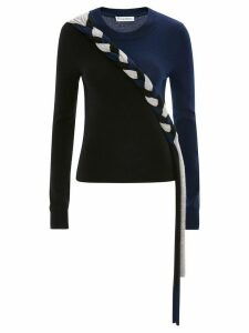 JW Anderson BRAIDED COLOURBLOCK CASHMERE JUMPER - Black