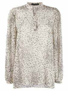 Luisa Cerano dotted print blouse - NEUTRALS