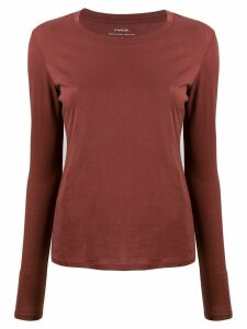 Vince long-sleeve fitted top - Brown