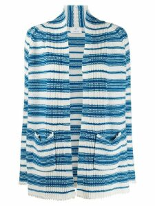 Allude cashmere striped cardigan - Blue
