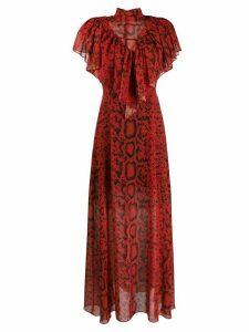 Preen By Thornton Bregazzi Kim python printed maxi dress - Red