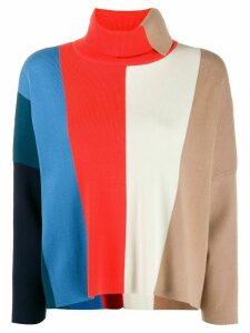 Victoria Victoria Beckham block stripe jumper - Brown