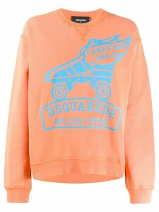 Dsquared2 printed logo sweatshirt - ORANGE