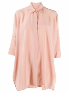 Agnona loose-fit silk shirt - PINK