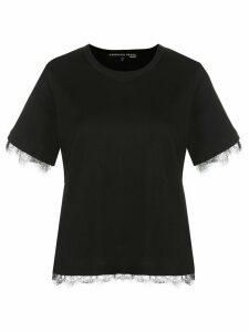 Veronica Beard lace trim T-shirt - Black