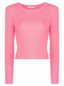 Alice+Olivia Ciara long-sleeved cropped top - PINK