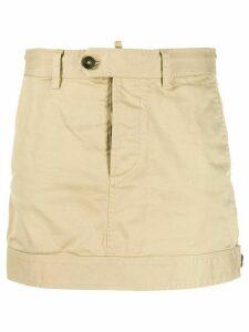 Dsquared2 buttoned waist mini skirt - Brown