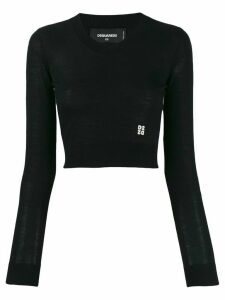 Dsquared2 cropped v-neck jumper - Black