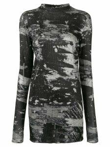 Strateas Carlucci scratch print jersey T-shirt - Black