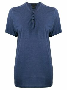 Avant Toi short-sleeve oversized T-shirt - Blue