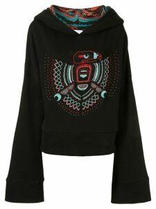 Alchemist boxy beaded motif hoodie - Black
