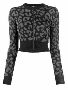 Diesel cropped knitted top - Black