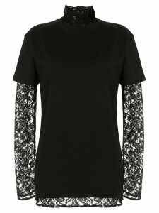 Strateas Carlucci layered lace T-shirt - Black