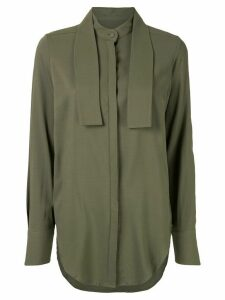 Strateas Carlucci wrap-neck collar shirt - Green