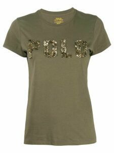 Polo Ralph Lauren sequin logo T-shirt - Green