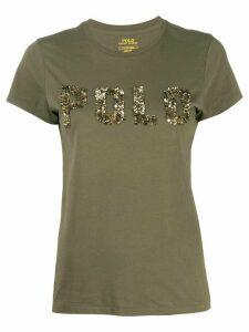 Polo Ralph Lauren sequin logo T-shirt - Green