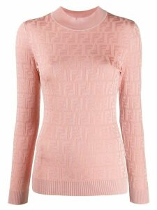 Fendi monogram print top - PINK