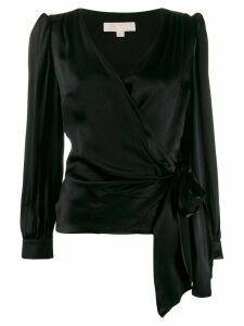 Michael Michael Kors satin tie blouse - Black