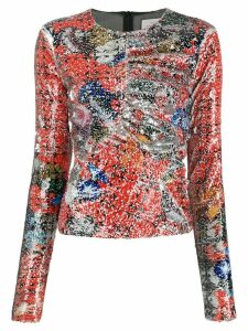 Preen By Thornton Bregazzi Willow abstract printed top - ORANGE