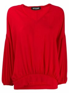 Styland ruched hem blouse - Red