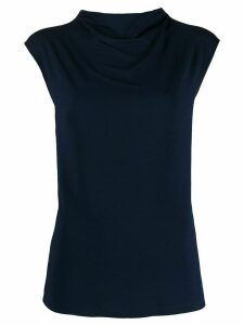 Styland short sleeved roll neck top - Black