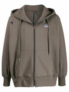 Ader Error logo oversized hoodie - Grey