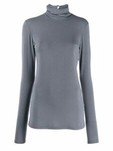 Styland roll neck stretch fit sweatshirt - Blue