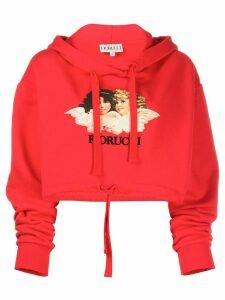 Fiorucci Vintage Angels cropped hoodie - Red